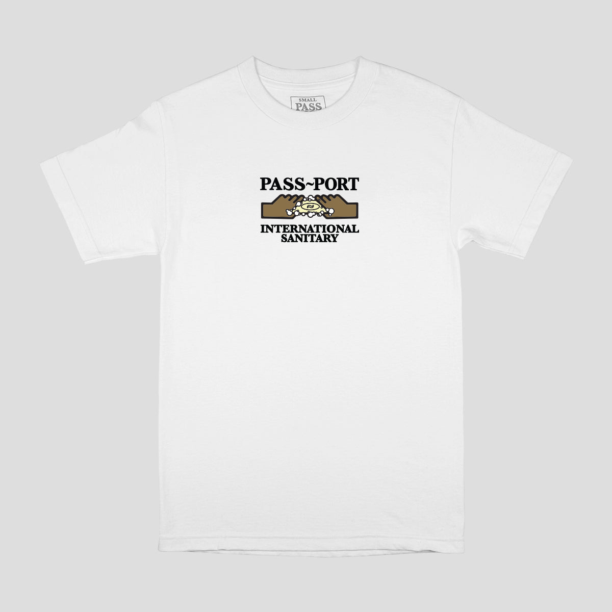 "PASS~PORT ""INTERNATIONAL SANITARY"" TEE WHITE"