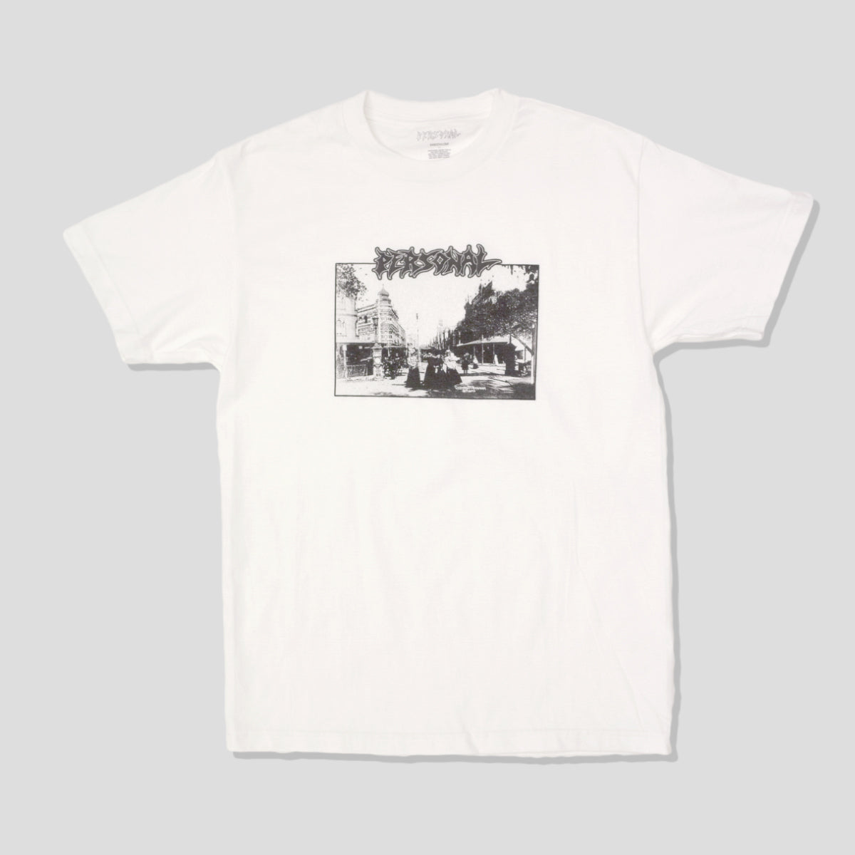"PERSONAL ""T SQUARE"" TEE WHITE"