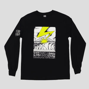 "CHINA HEIGHTS ""SYDNEY DOGS""  L/S TEE BLACK"