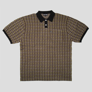 "PASS~PORT ""TILDE"" KNITTED POLO GREEN"