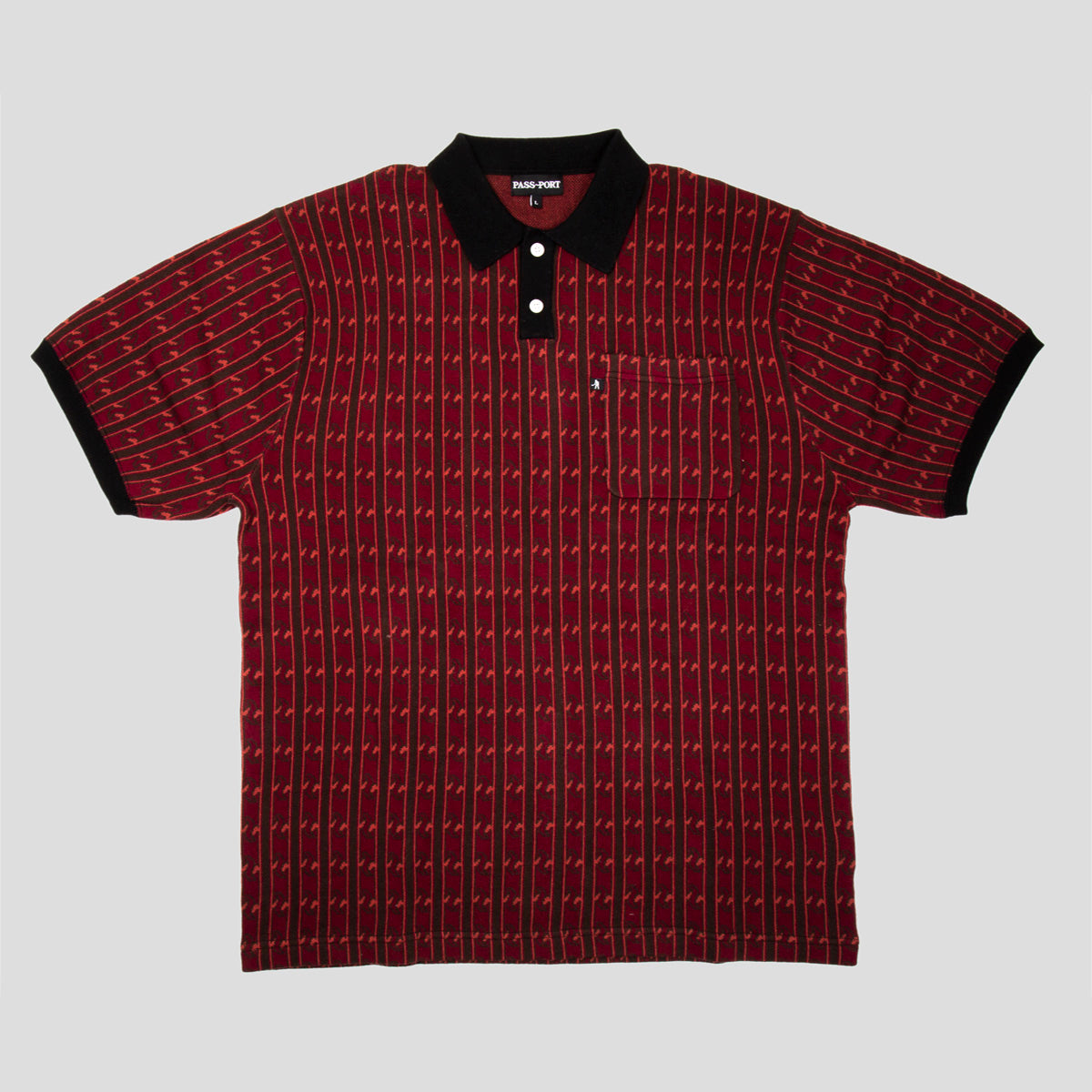 "PASS~PORT ""TILDE"" KNITTED POLO RED"