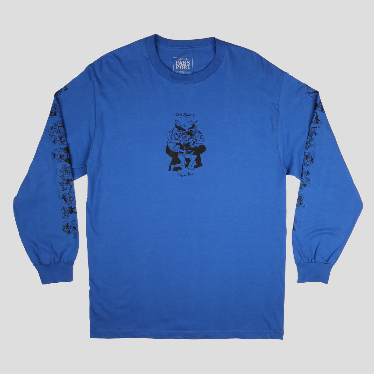 "PASS~PORT TOBY ZOATES ""COPPERS"" L/S TEE ROYAL BLUE"