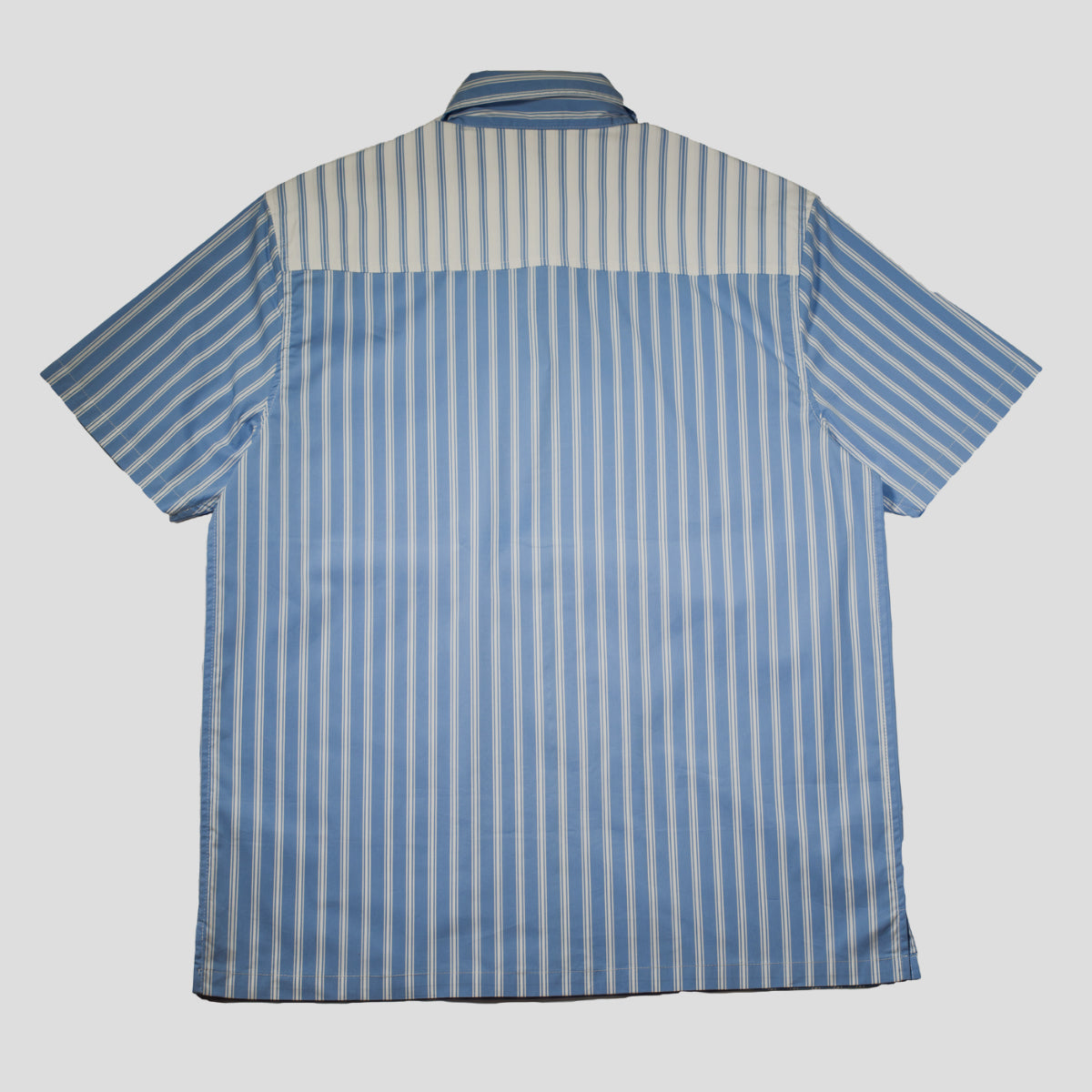 "HODDLE ""TONAL STRIPE ZIP"" SHIRT BLUE/BLUE"