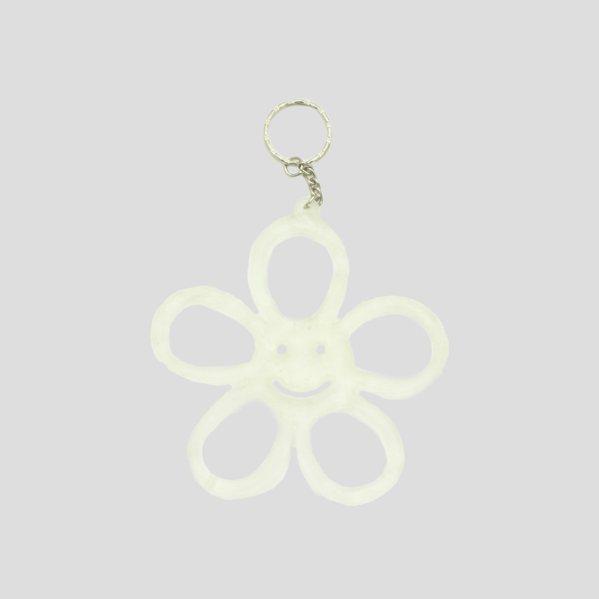 HAPPY FLOWER KEYRING TRANSLUCENT