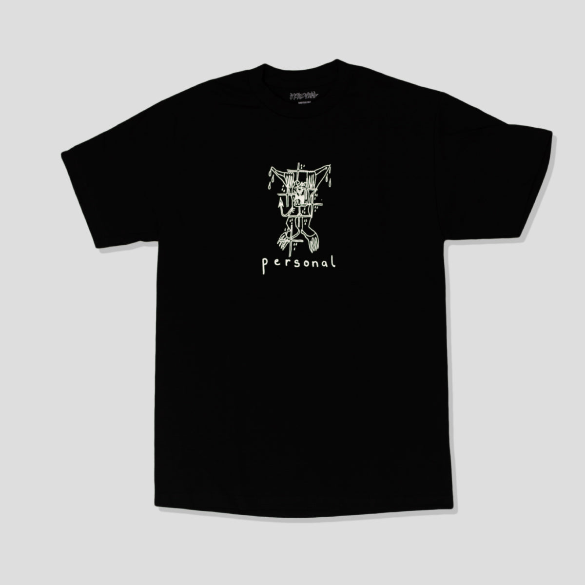 "PERSONAL ""TRAPPED"" TEE BLACK"