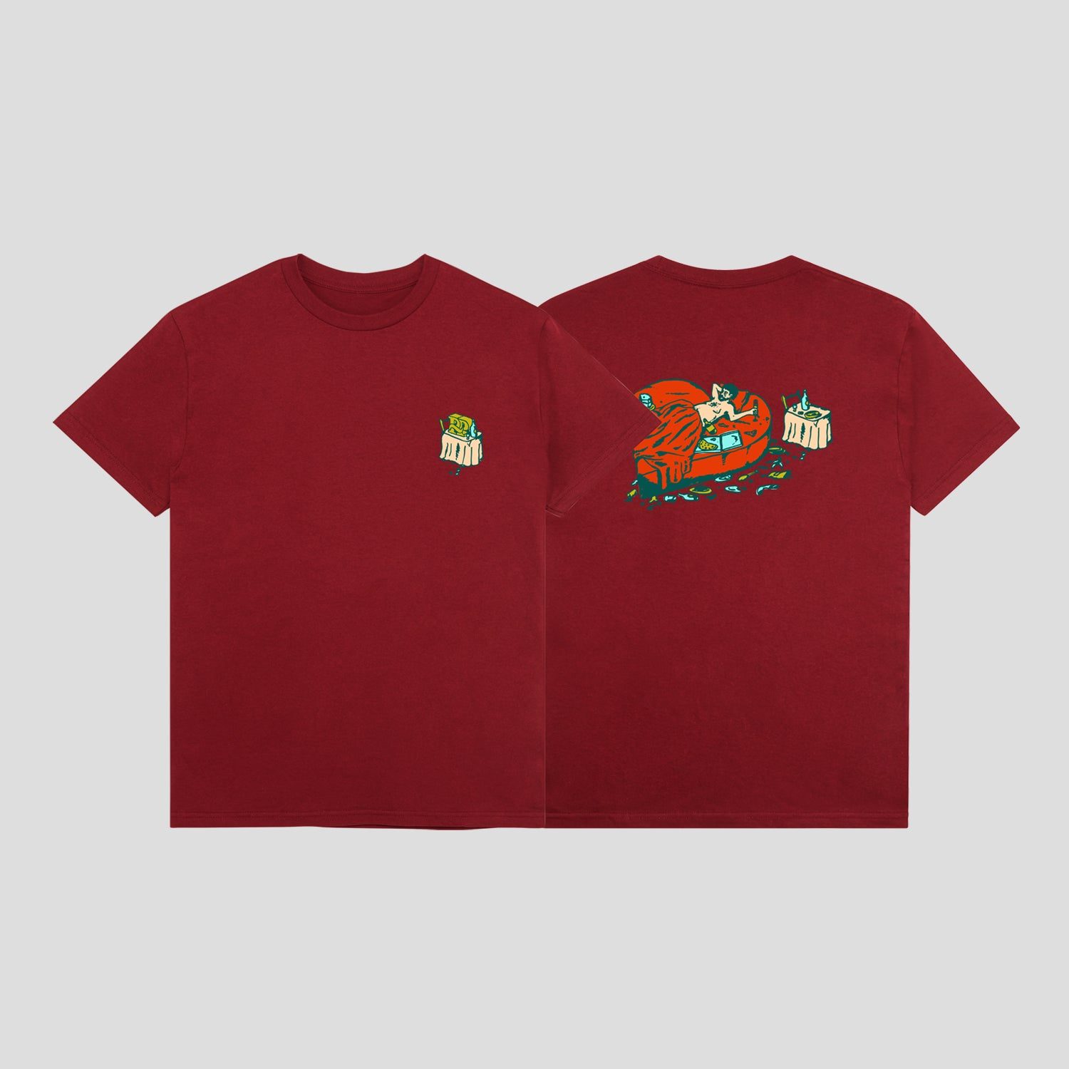 "PASS~PORT ""UNLUCKY IN LOVE"" TEE CARDINAL"