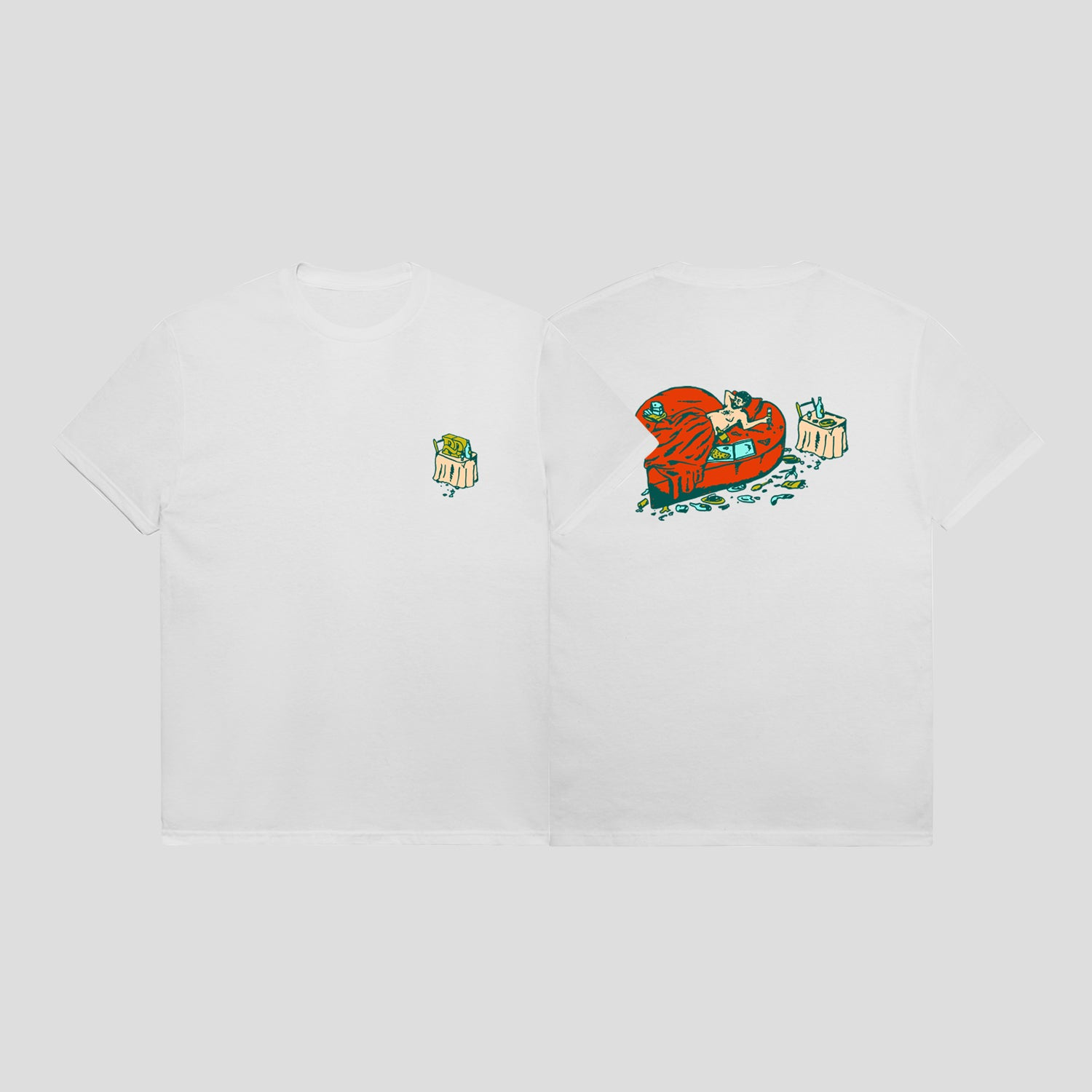"PASS~PORT ""UNLUCKY IN LOVE"" TEE WHITE"