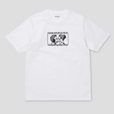 CARHARTT WIP & PASS~PORT GOOD~BYE TEE WHITE