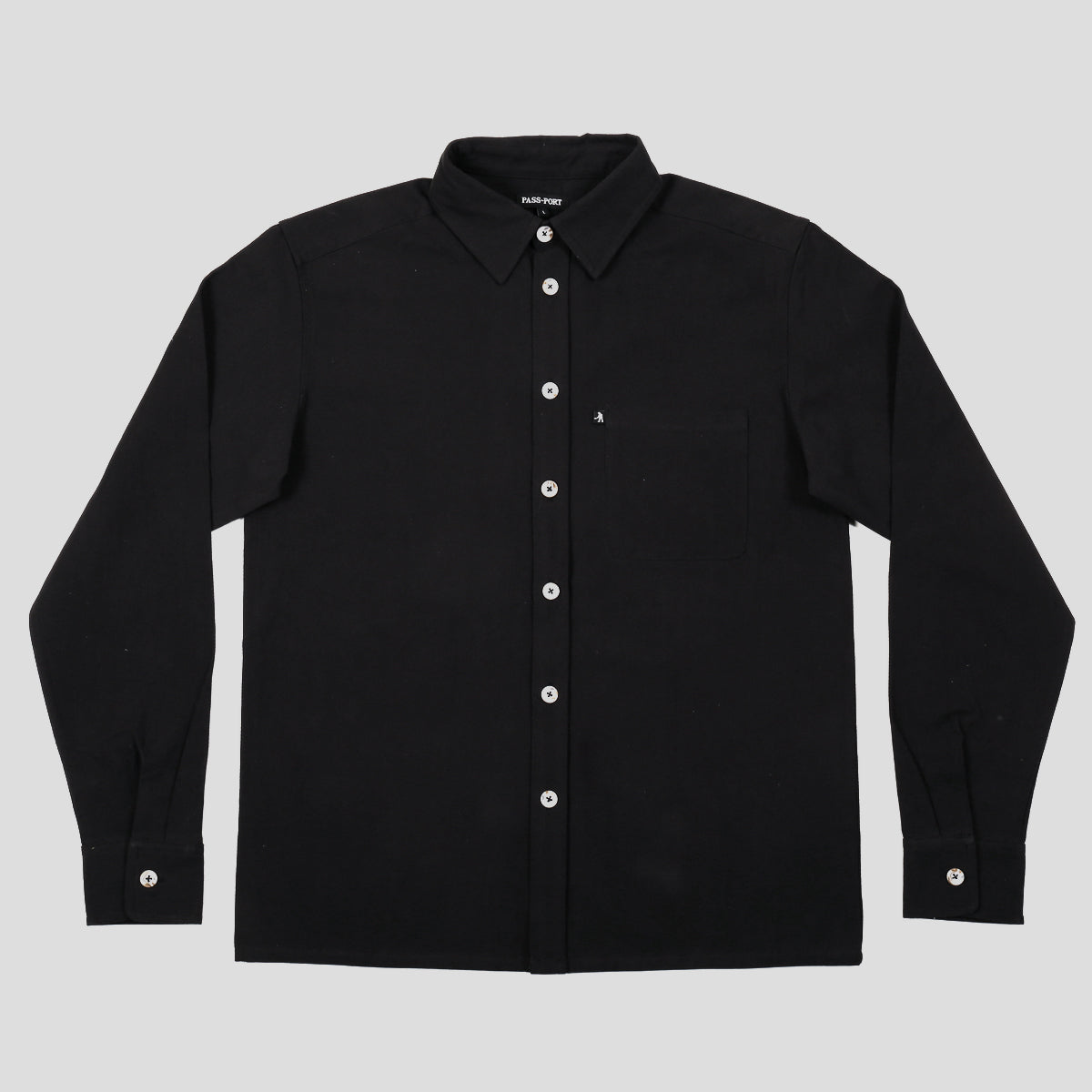 "PASS~PORT ""WORKERS"" L/S SHIRT BLACK"