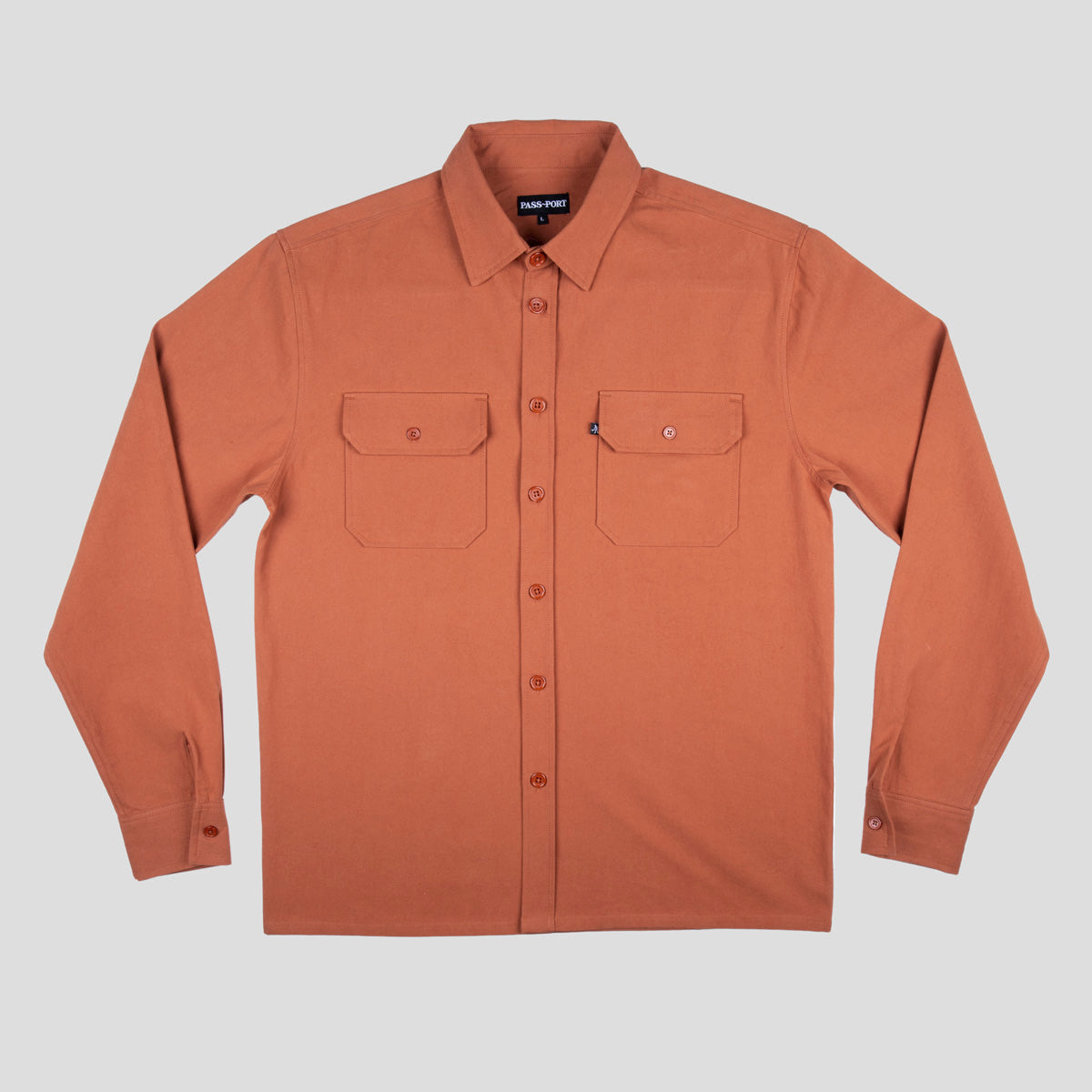 "PASS~PORT ""WORKERS"" L/S SHIRT RUST"