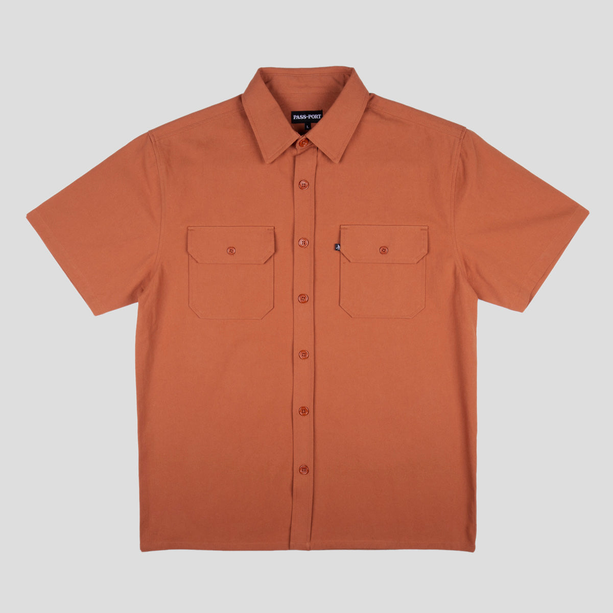 "PASS~PORT ""WORKERS"" S/S SHIRT RUST"