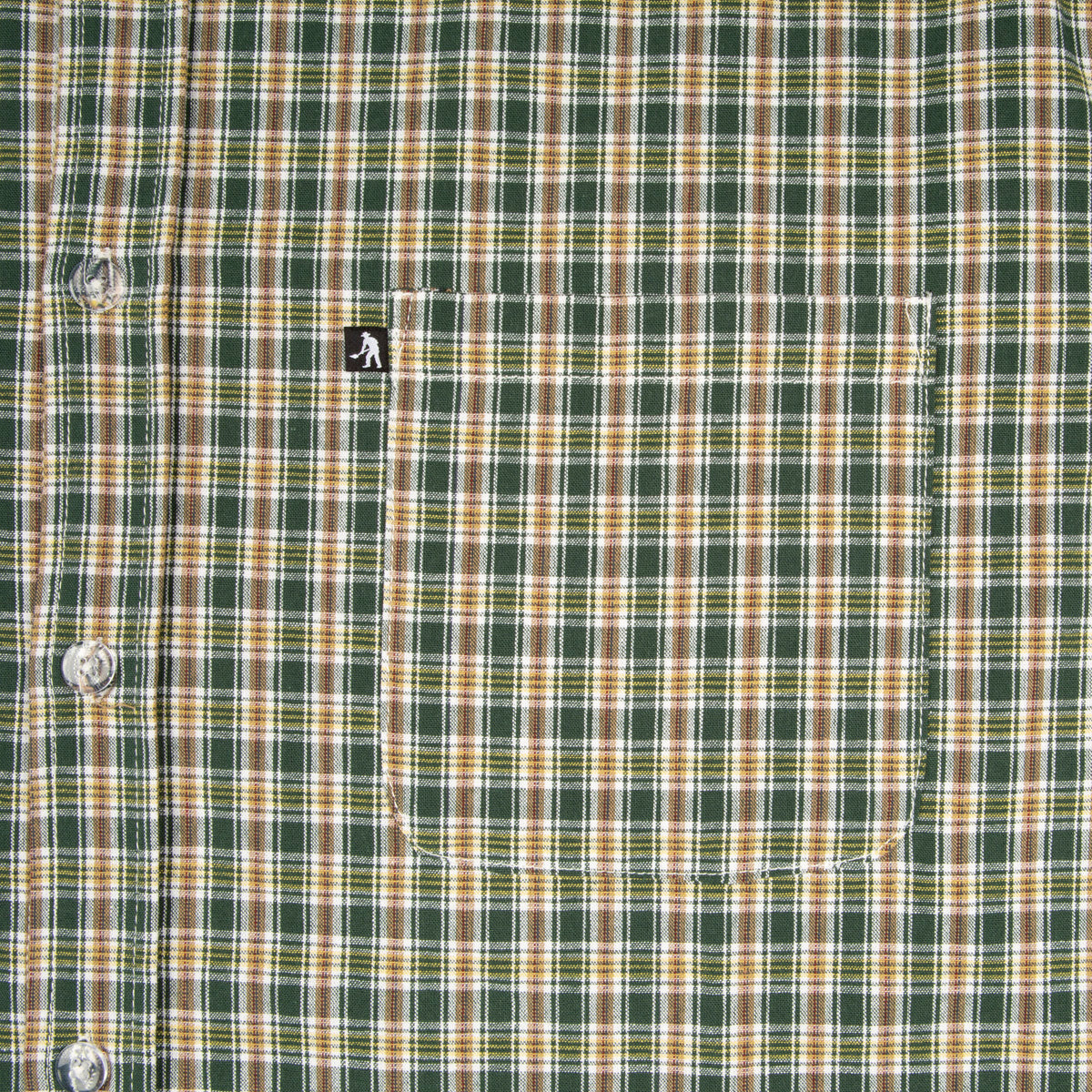 "PASS~PORT ""WOVEN CHECK"" L/S SHIRT GREEN"