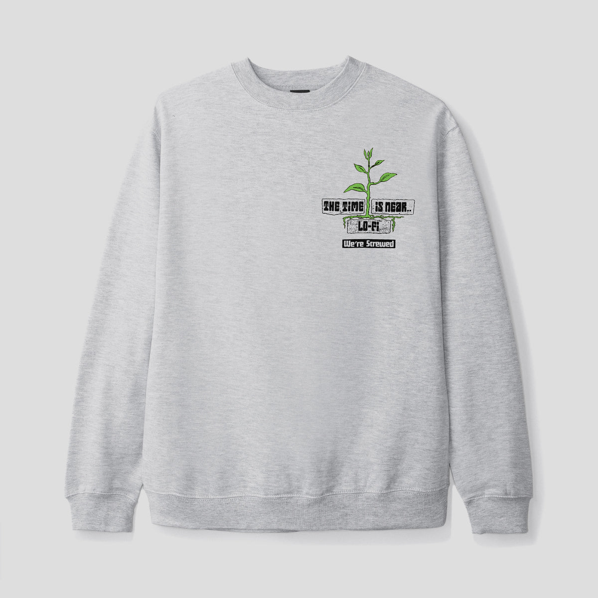 "LO-FI ""WASTELAND"" SWEATER HEATHER GREY"