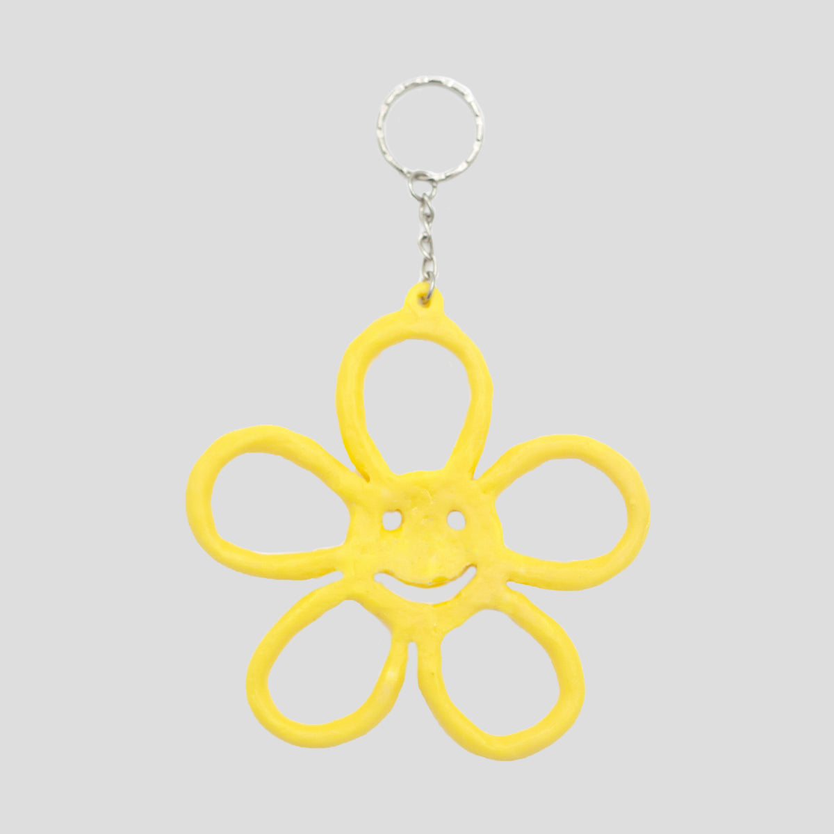 HAPPY FLOWER KEYRING YELLOW