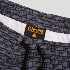 PASS~PORT & CAMP COVE SWIM BOARDIE CHARCOAL