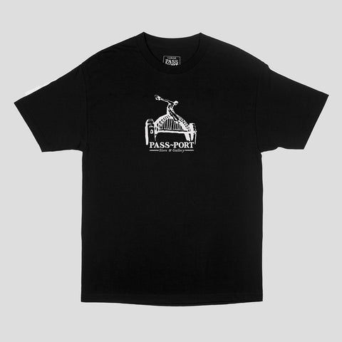 "PASS~PORT ""RIDE THE HARBOUR"" TEE BLACK"
