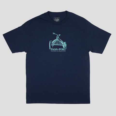 "PASS~PORT ""RIDE THE HARBOUR"" TEE NAVY"
