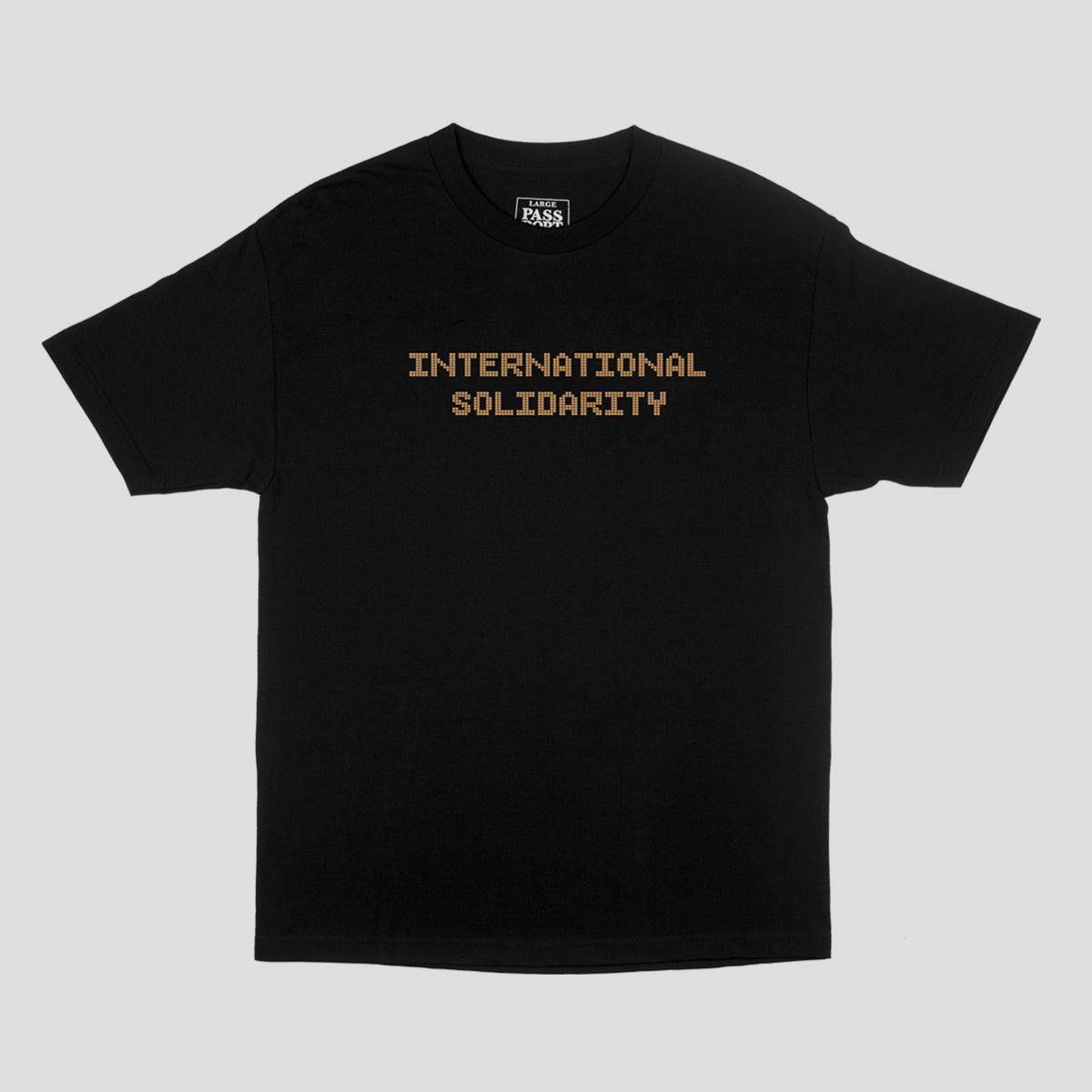 "PASS~PORT ""INTER SOLID TILE"" TEE BLACK"