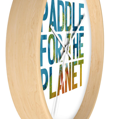 Paddle For The Planet Wall clock