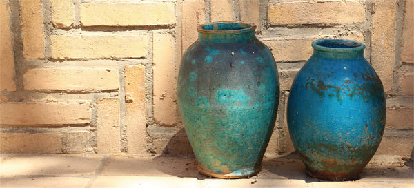 large pottery jars