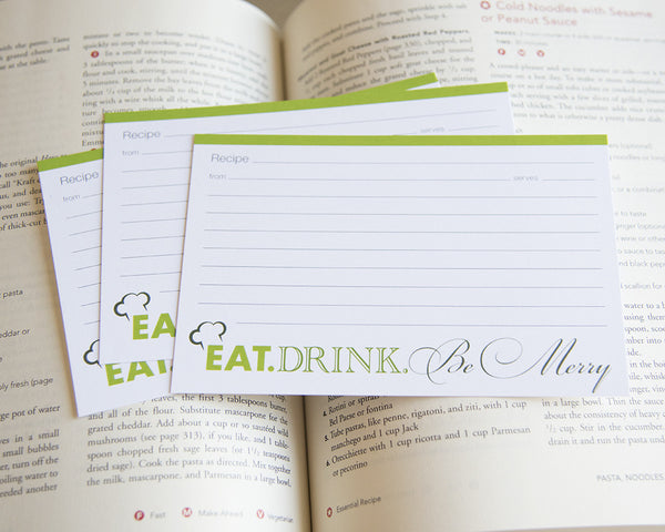 Eat, Drink & Be Merry - Recipe Cards