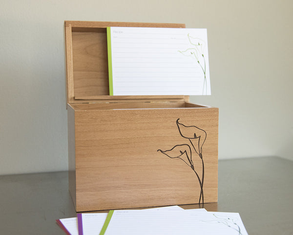 Calla Lily - Recipe Box