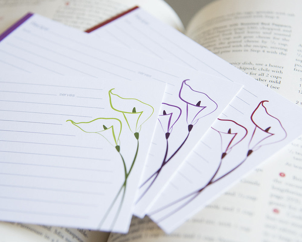 Calla Lily - Recipe Cards