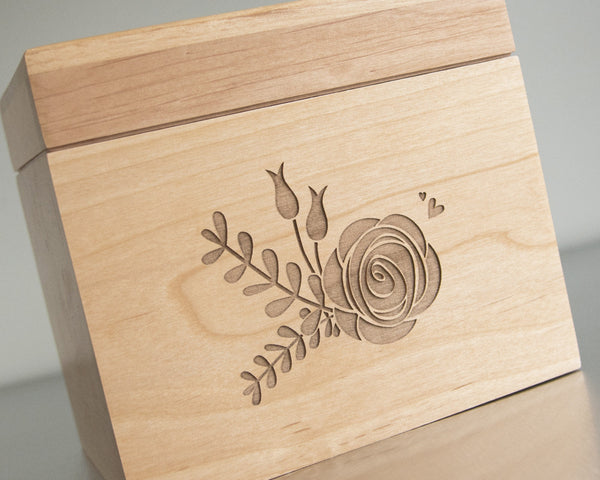 Rose Bouquet - Recipe Box