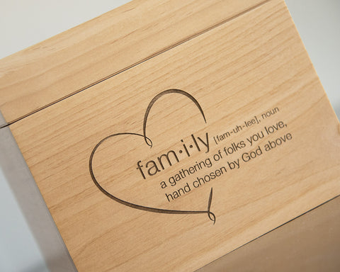 Definition of a Family - Recipe Box