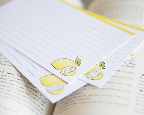 Lemons - Recipe Cards