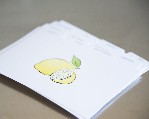 Recipe Box Dividers