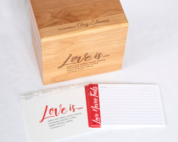 Love Never Fails - Recipe Box