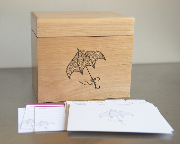 Pretty Parasol - Recipe Box