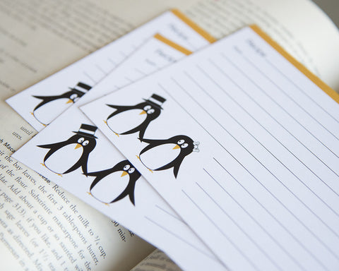 Pair of Penguins - Recipe Cards