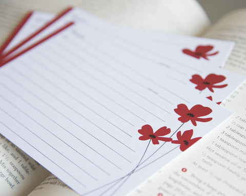 Poppy - Recipe Cards