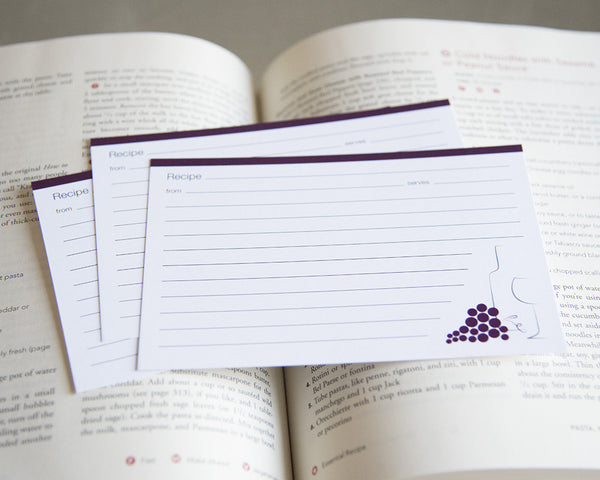 Wine & Grapes - Recipe Cards