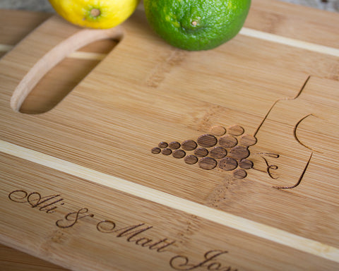 Wine & Grapes - Cutting Boards