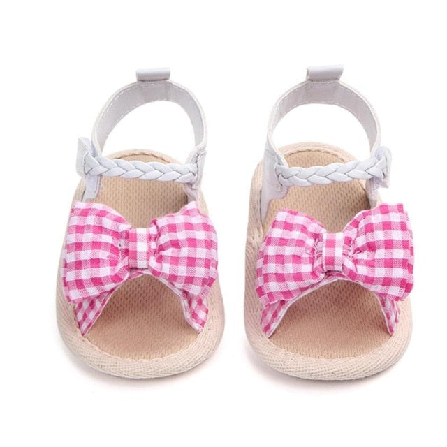 Plaid Bow Shoes