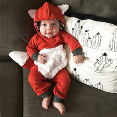 Fox Hooded Jumpsuit