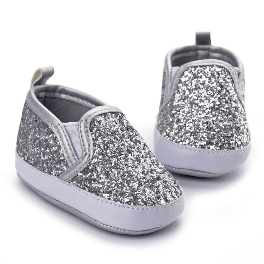 Glitter Crib Shoes