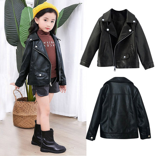 Girl Leather Coat