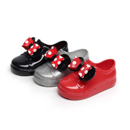 Dot Bow Leather Shoes