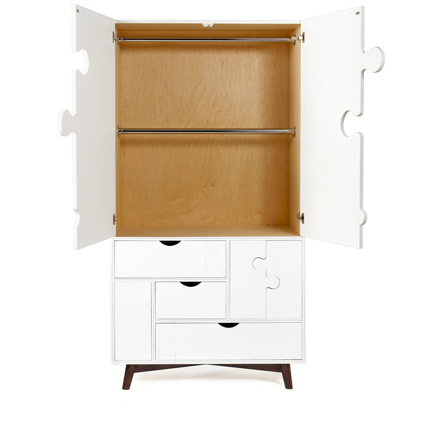 The Jigsaw Armoire (White)