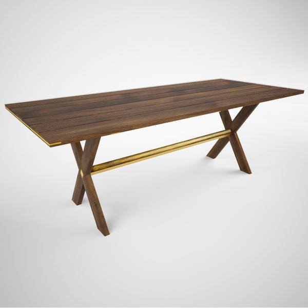 Barnsdall Picnic Table (With Brass)