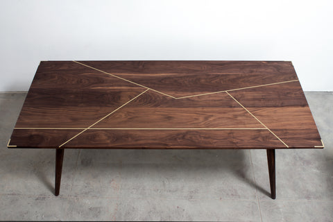 The Silverlake Dining Table With Brass