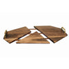 Claremont Expandable Serving Tray - Walnut and Brass