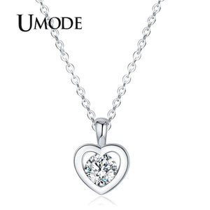el más nuevo b928e 8a772 UMODE Long Chain Heart Fashion Pendants & Necklaces Women Jewlery  Valentine's day Best Friend collares largos de moda UN0310