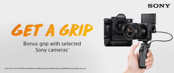 Get a Grip with selected Sony Cameras