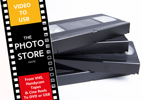Video tapes converted to USB or dropbox