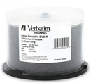 Verbatim DVD-R 4.7GB 16x White Wide Inkjet Printable 50pk on Spindle